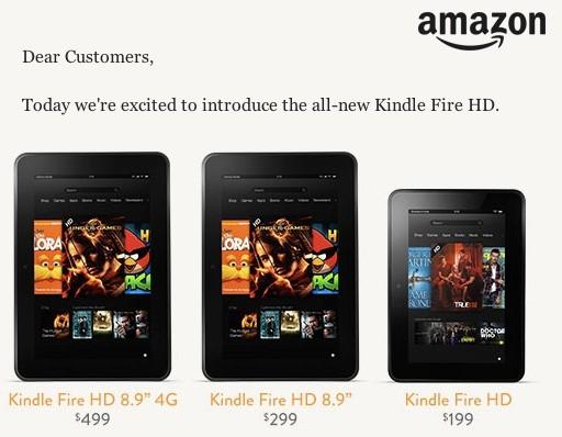 Amazon presentó sus tablets sin tener autorización de venta