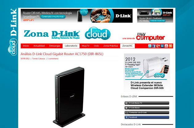 MuyComputer estrena zona de D-link con muchas novedades