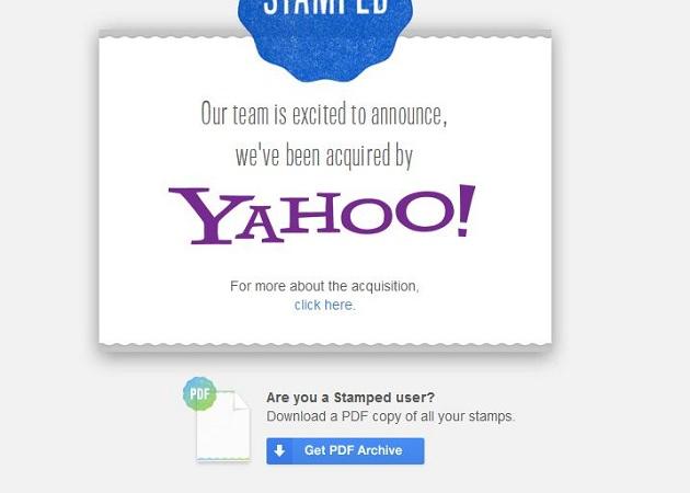 Yahoo! adquiere Stamped