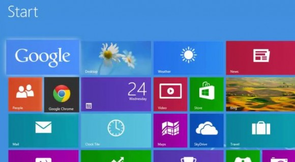 Google se ofrece en Windows 8 frente a IE y Bing