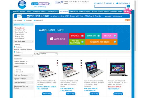 Microsoft obliga al retailer HSN a suspender la venta de productos con Windows 8