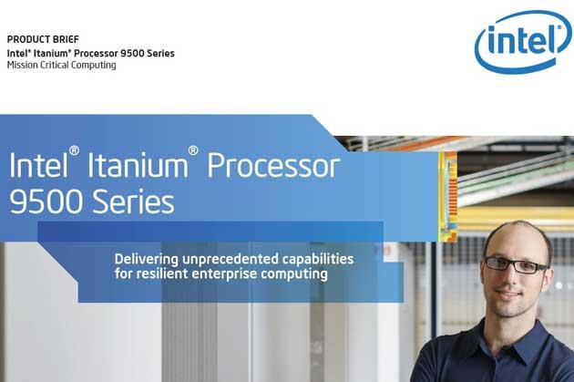 Intel lanza los procesadores Itanium 9500 'Poulson'