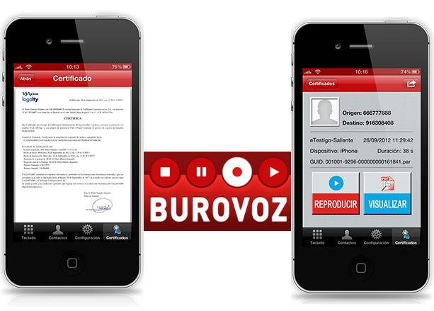 Asegura y certifica todas tus conversaciones telefónicas con Burovoz