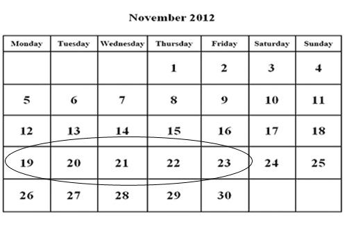 Noviembre de 2012