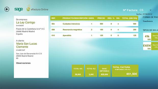 Sage efactura online para windows 8