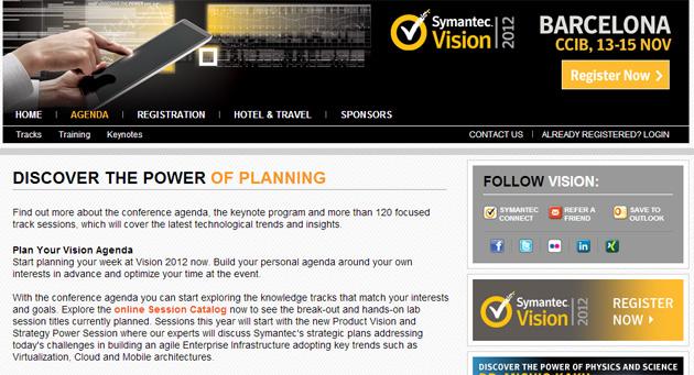 Symantec Vision 2012 deja lo mejor para el final