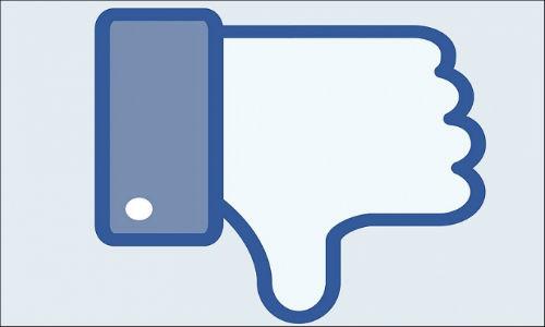 caída en las acciones de Facebook