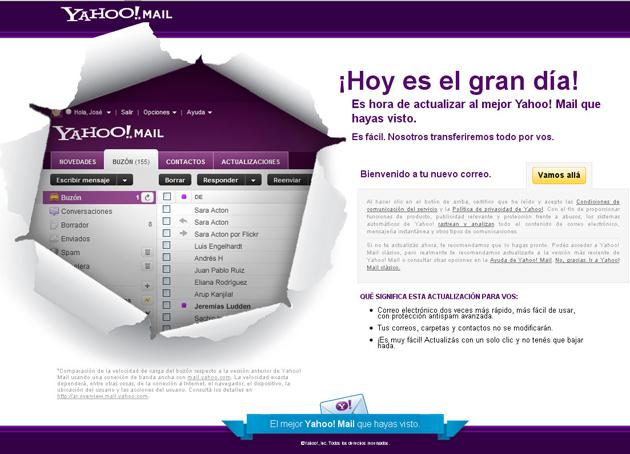 Mayer busca ganar clientes mejorando el servicio de correo de Yahoo!