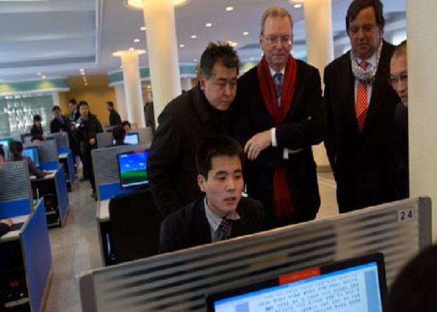 El presidente de Google llega a Corea del Norte