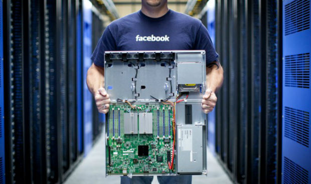 servidores de Facebook e Intel