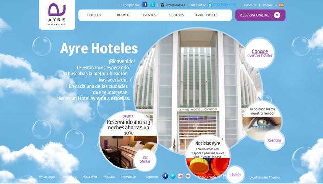 Ayre Hoteles se desmarca en el entorno 2.0. y 3.0