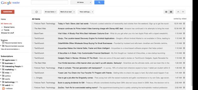 Adiós Google Reader, adiós