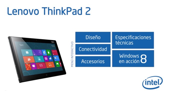 Lenovo ThinkPad Tablet 2, vídeo interactivo