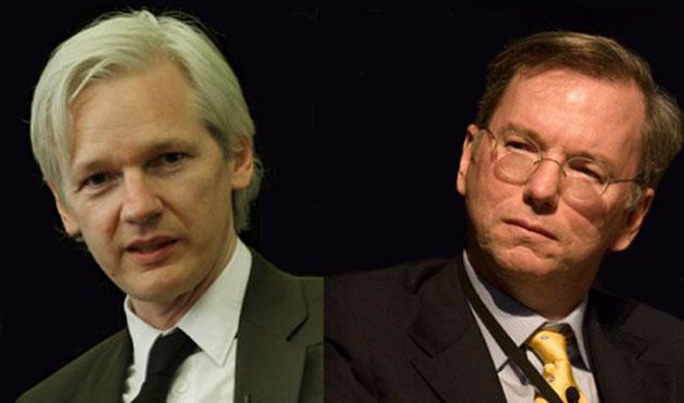 Assange y Schmidt