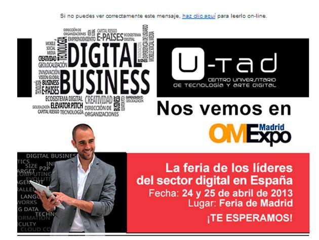 U-tad acudirá a OMExpo 2013 con expertos en digital business