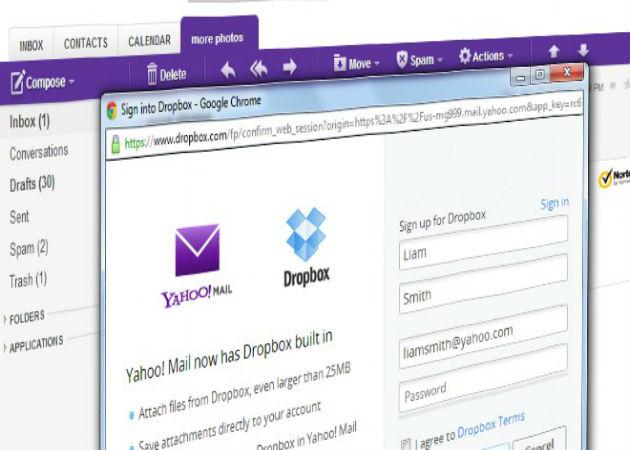 Yahoo! firma un acuerdo con Dropbox
