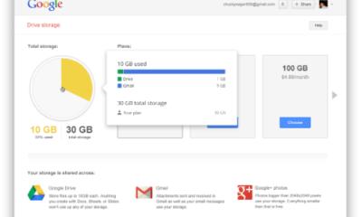 Google unifica 15 GB gratis para Drive, Gmail y Google+