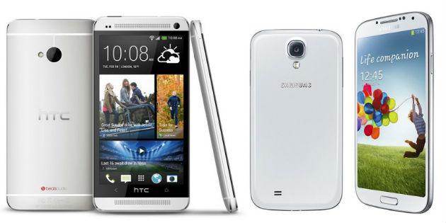 Samsung vende 10 millones de S4, pero HTC le sigue la pista