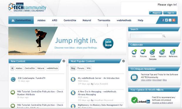 Software AG impulsa la colaboración social a través de la nueva plataforma TECHcommunity