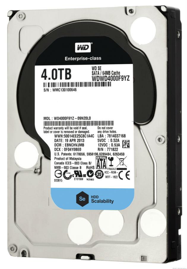 WD SE, discos duros de clase empresarial