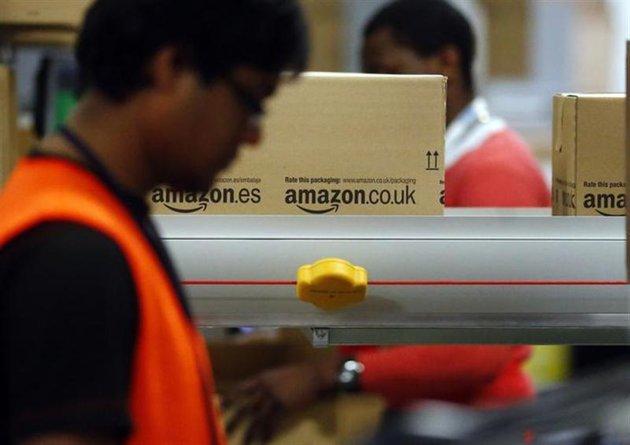 Los trabajadores de Amazon en Alemania en huelga