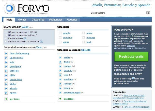 La española Forvo en la lista de las 50 mejores Webs de Time