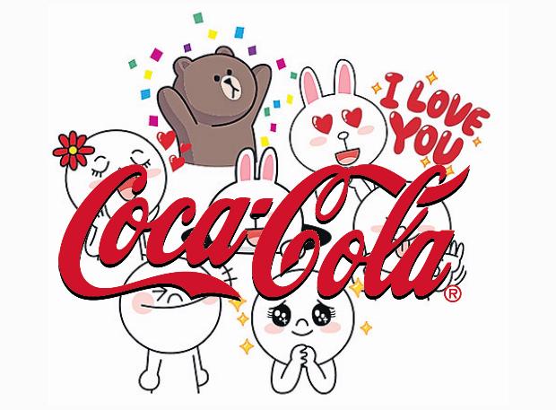 Coca-Cola se ha convertido en la primera marca con cuenta oficial de Line
