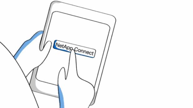 NetApp Connect, gestión sencilla de dispositivos móviles