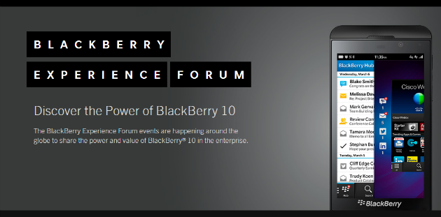 BlackBerry Experience Forum 2013, BlackBerry 10 en la empresa