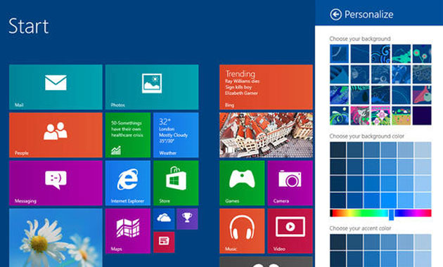 Windows 8.1 modern IU