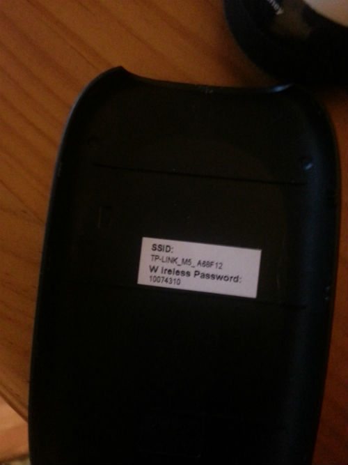 trasera M5 3g mobile WiFi