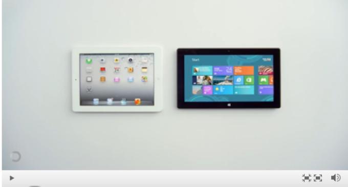 Microsoft sigue en la lucha y presenta su nuevo anuncio: Surface Vs. iPad