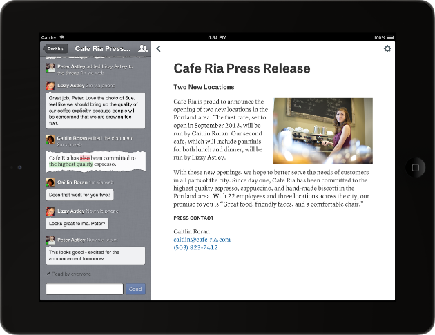 Quip-iPad-Document-Press-Release