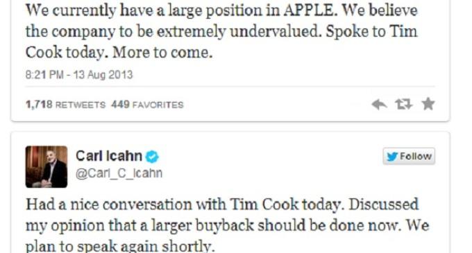 Carl Icahn tiene un ojo puesto en Apple