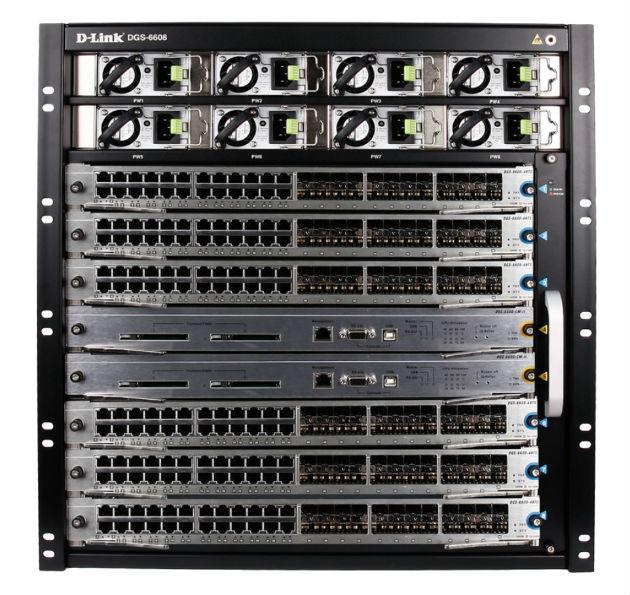 DGS-6608, nuevo chasis switch de D-Link