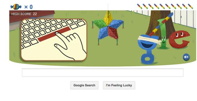 Google pinata doodle