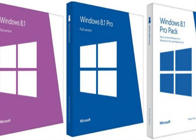Precios y packaging de Windows 8.1