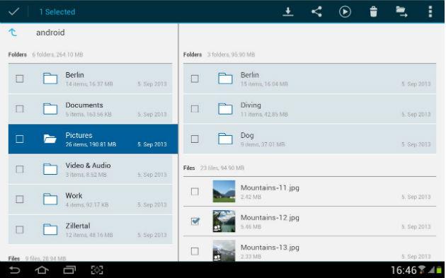 Nueva aplicación de HiDrive para tabletas Android