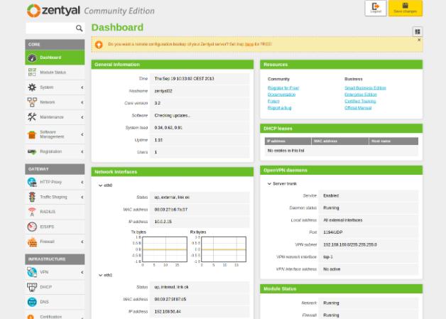 Zentyal 3.2, una nueva versión del servidor Linux