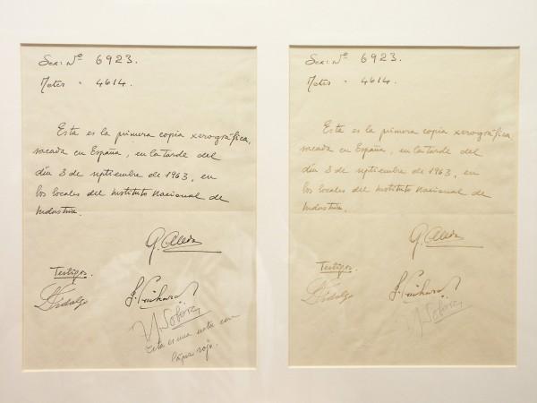 1ª fotocopia hecha en España