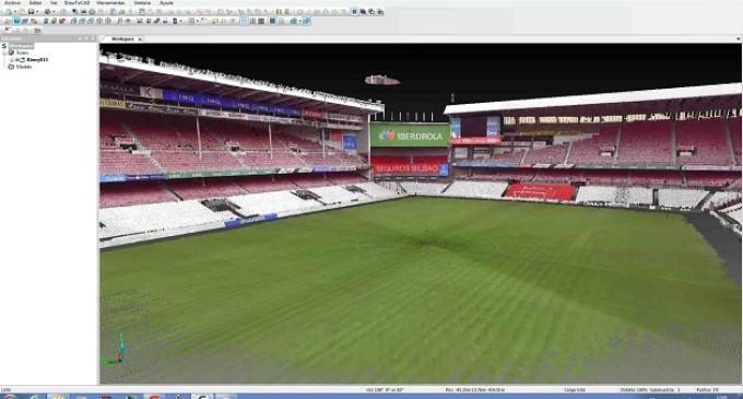 La tecnología 3D permite que San Mamés no desaparezca