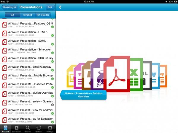 Secure Content Locker, el nuevo servicio de alojamiento de archivos de AirWatch