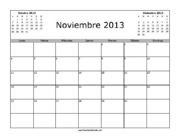 Noviembre de 2013