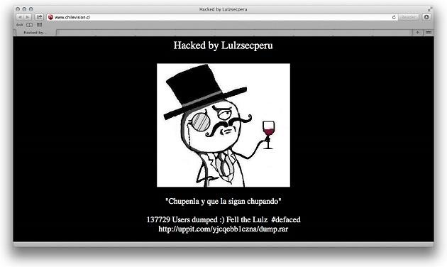 web hackeada