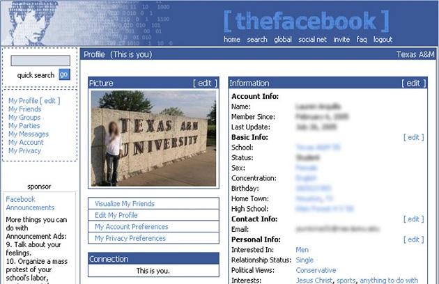 inicios facebook
