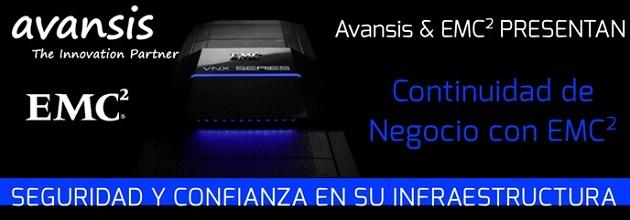 Avansis y EMC presentarán en un evento la nueva familia VNXe/VNX