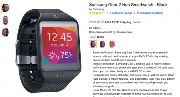 Samsung-Gear-2-Neo-Shipping-Amazon-com-Tizen-Fit-700