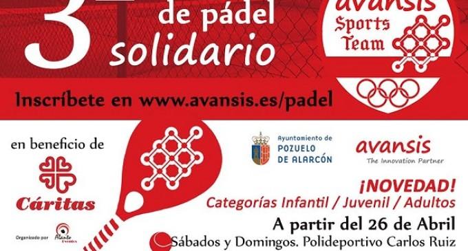 Avansis organiza el tercer Torneo de Pádel Solidario