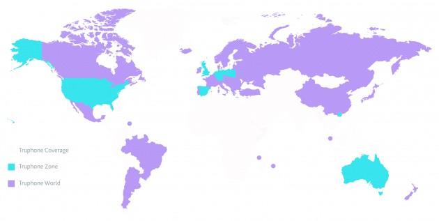 Mapa Truphone World