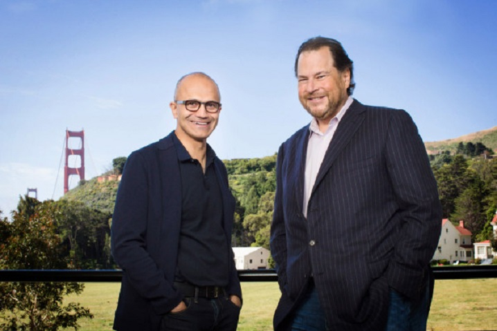 Salesforce y Microsoft